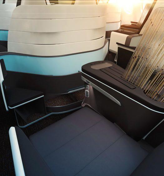 Hawaiian Airlines lie flat seating