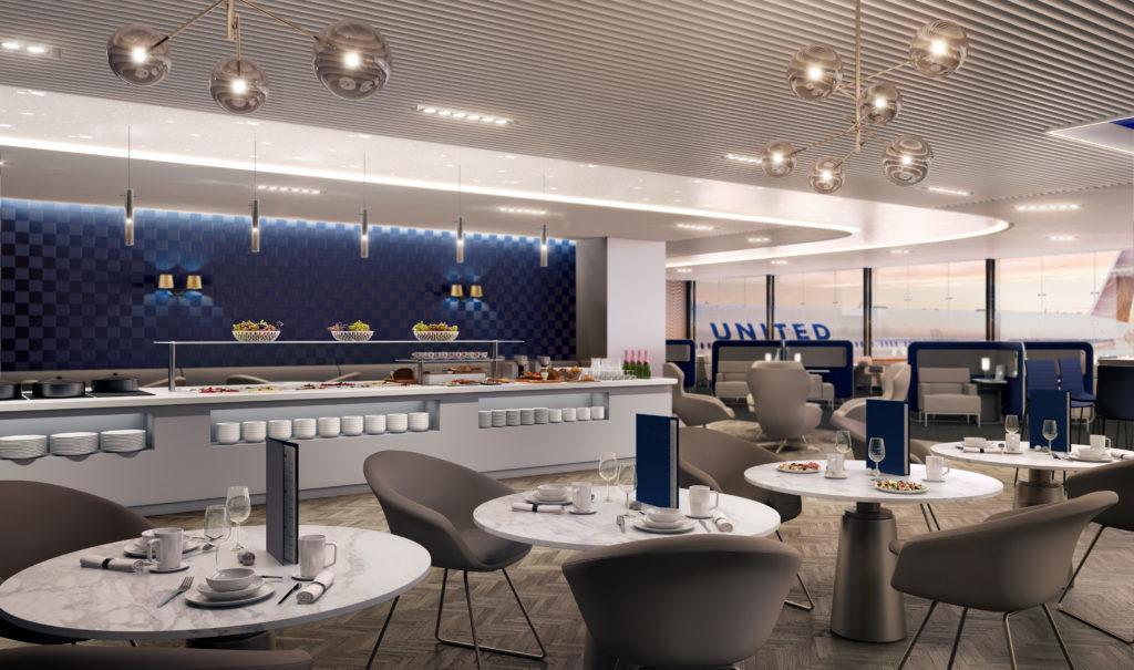 United Polaris Business Class Lounge Buffet Modhop Com