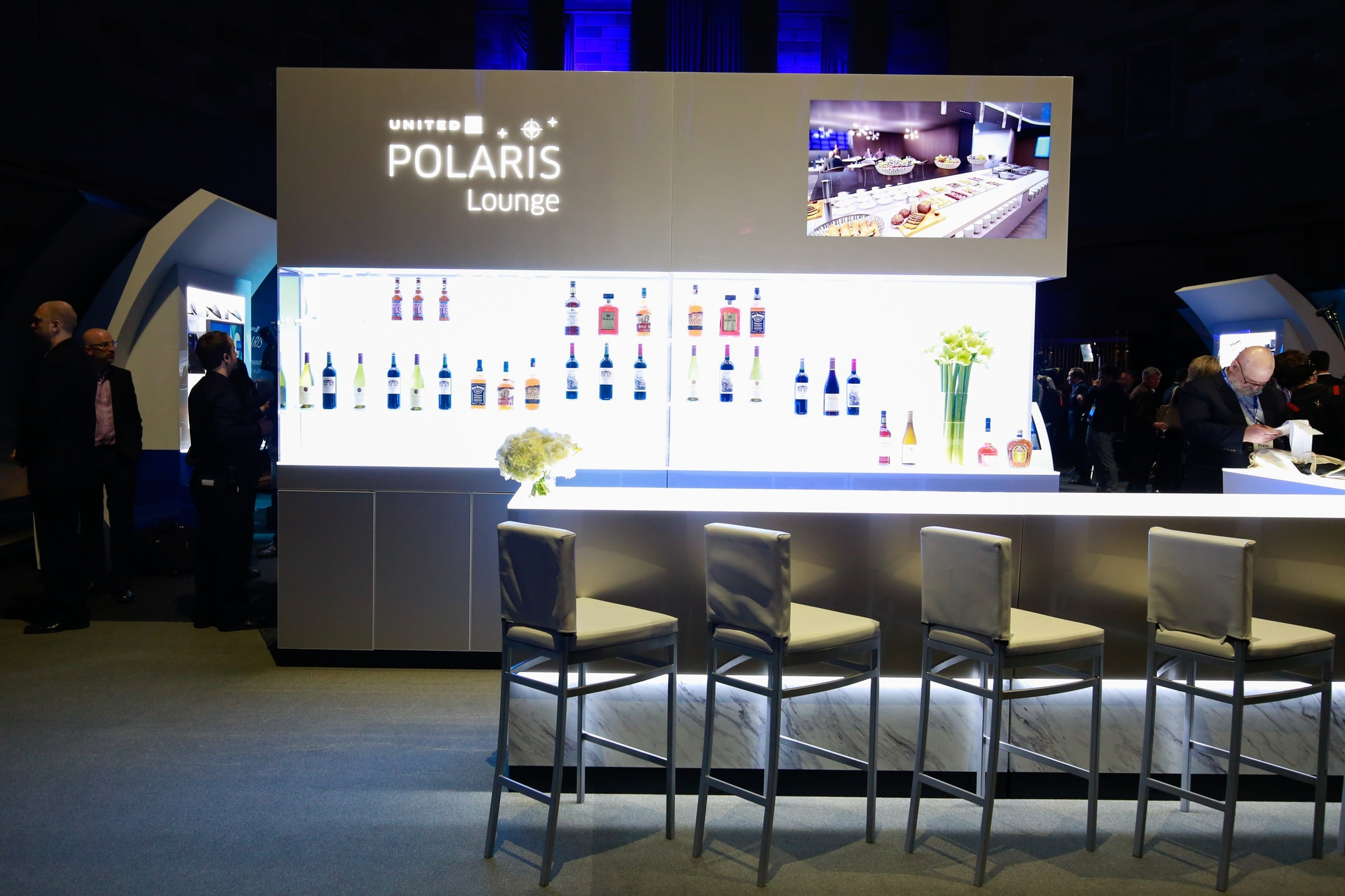 United Airlines unveils the all-new United Polaris business class, featuring a re-imagined, sleep-enhancing, lounge-to-landing experience for intercontinental travelers on Thursday, June 2, 2016 in New York. (Mark Von Holden/AP Images for United Airlines)