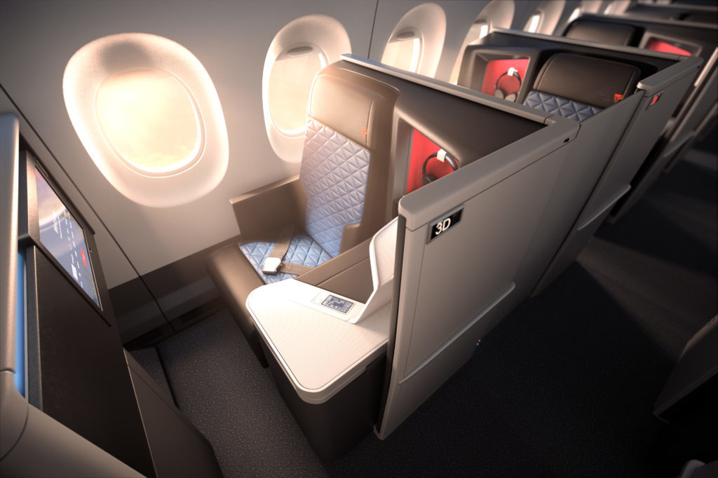 Delta Business Class international seating for ultra long-haul [Image: Delta Airlines]