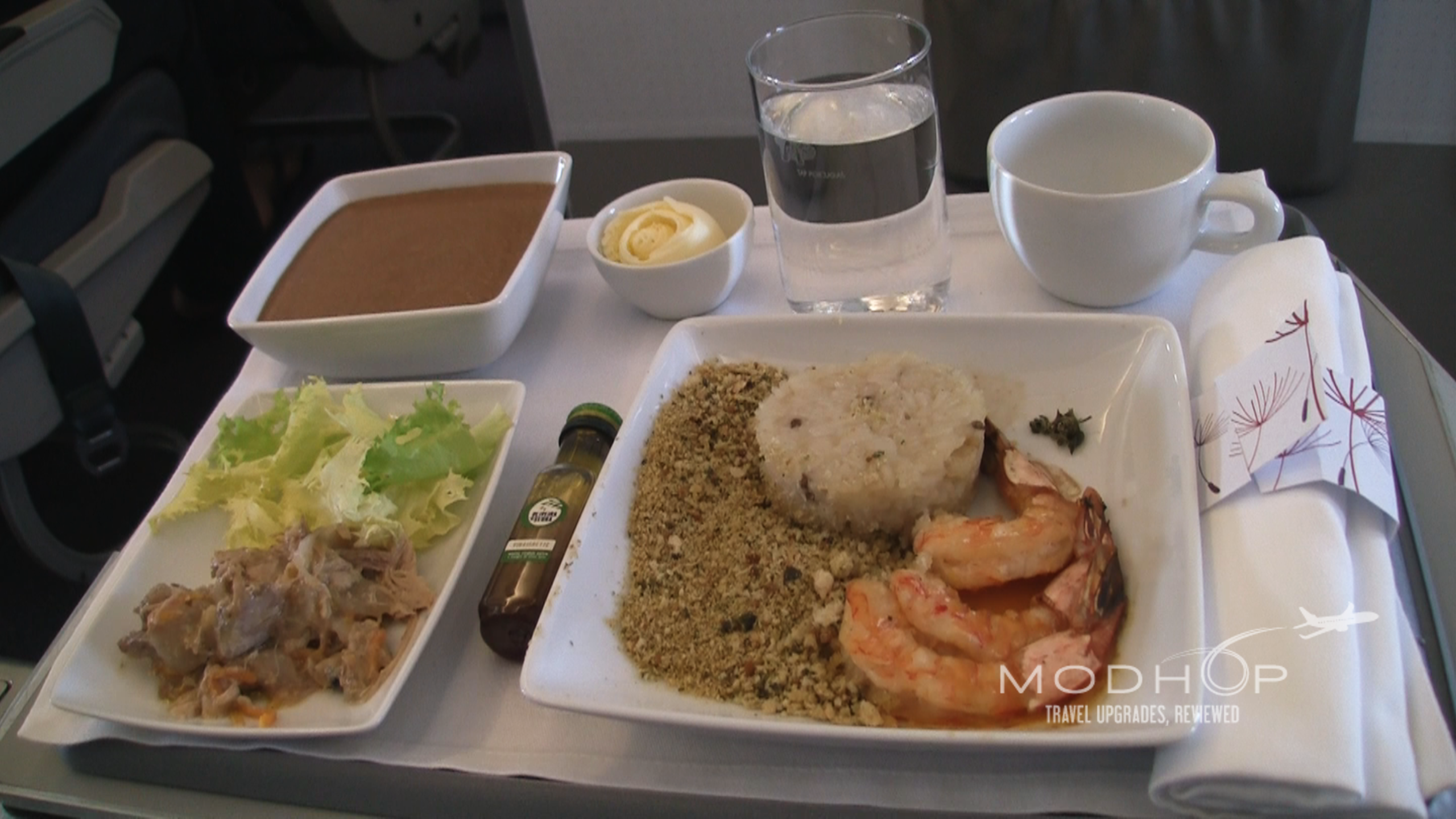 TAP Business Class Meal - Shrimp