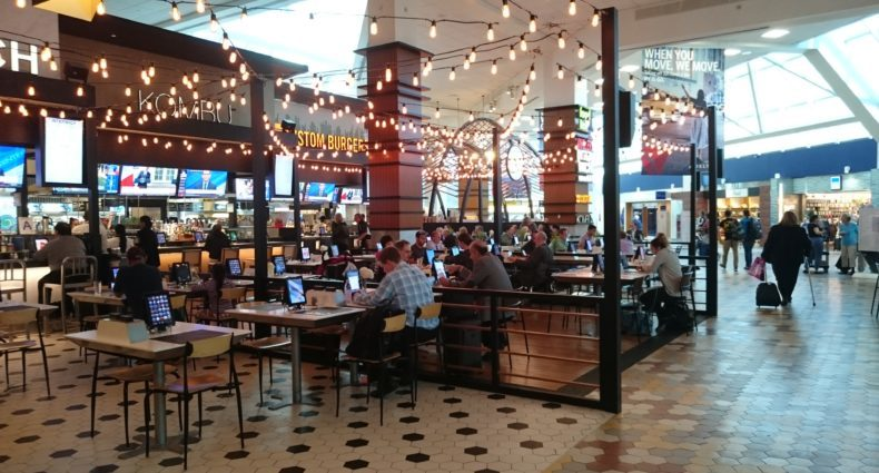 LaGuardia Airport Food Hall in Terminal C