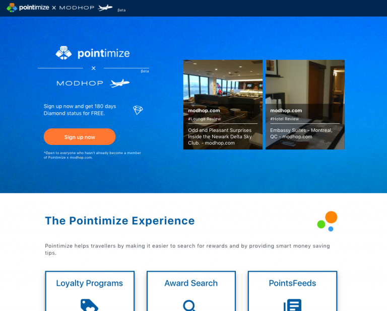 Air Miles and Hotel points in one spot. Pointimize.com