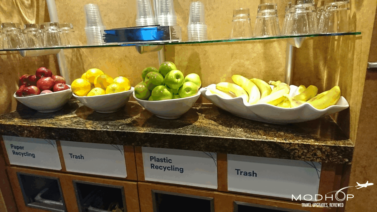 Fruit at LAX Alaska Airlines Lounge.