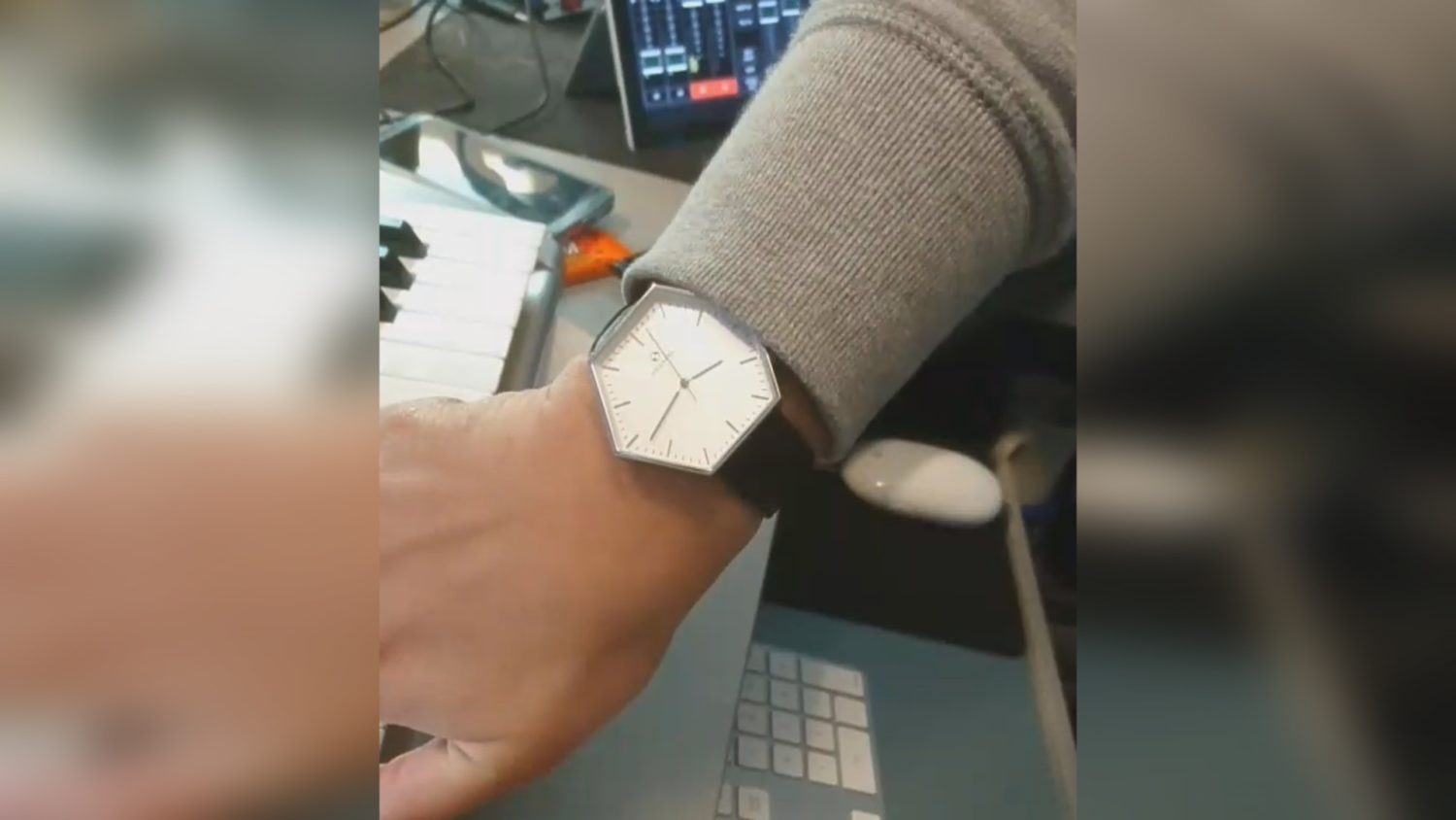 Anthony wears the Hexwatch