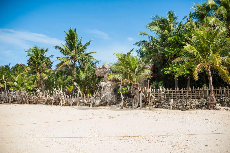 White sand beach in Boracay, Phillipines