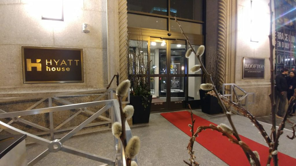 Jersey City Hyatt House Entrance