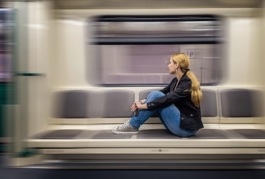 Alone in the subway