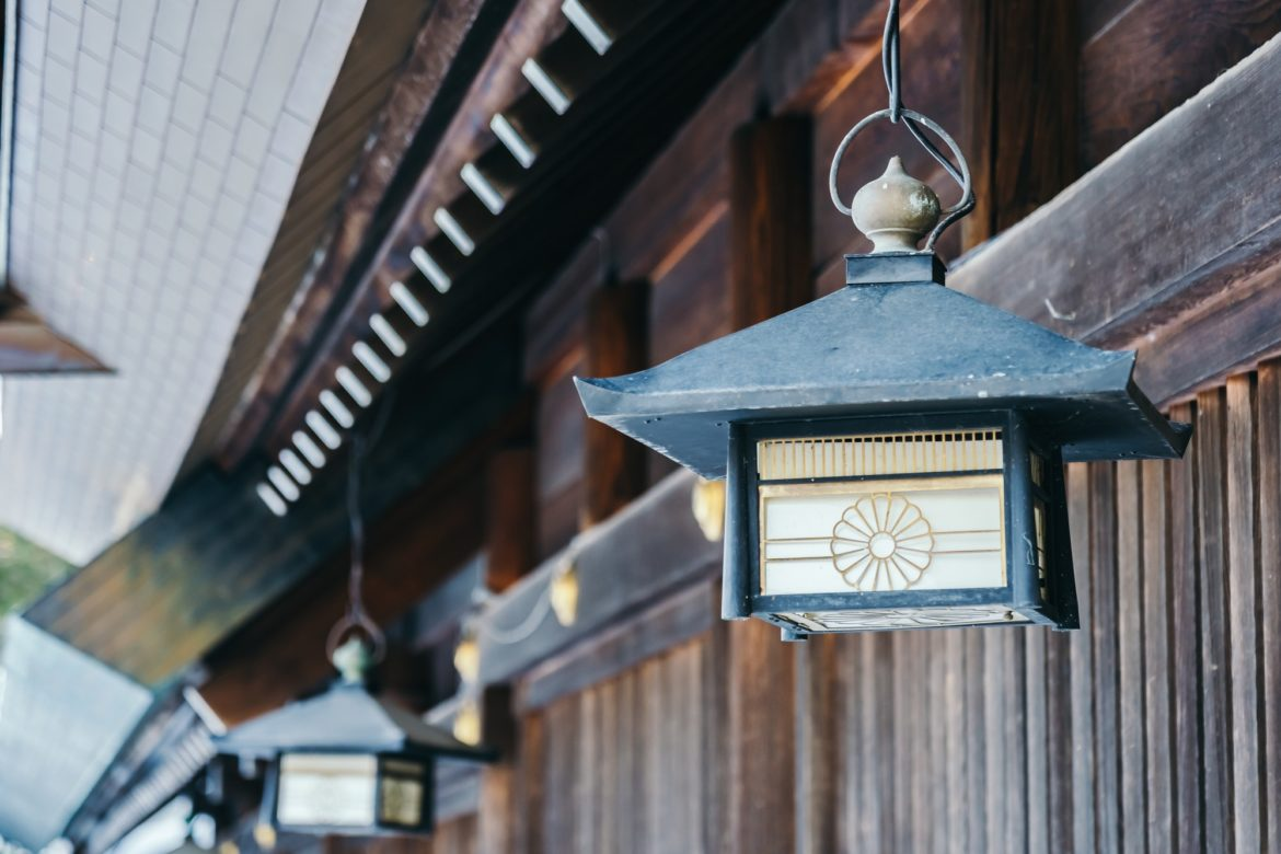 Old vintage Lantern decoration at Temple in Japan