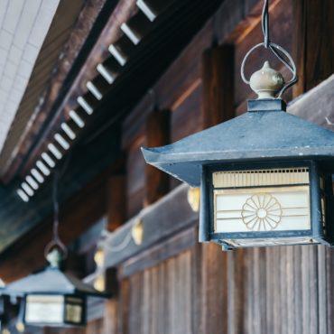 Old vintage Lantern decoration at Temple in Japan