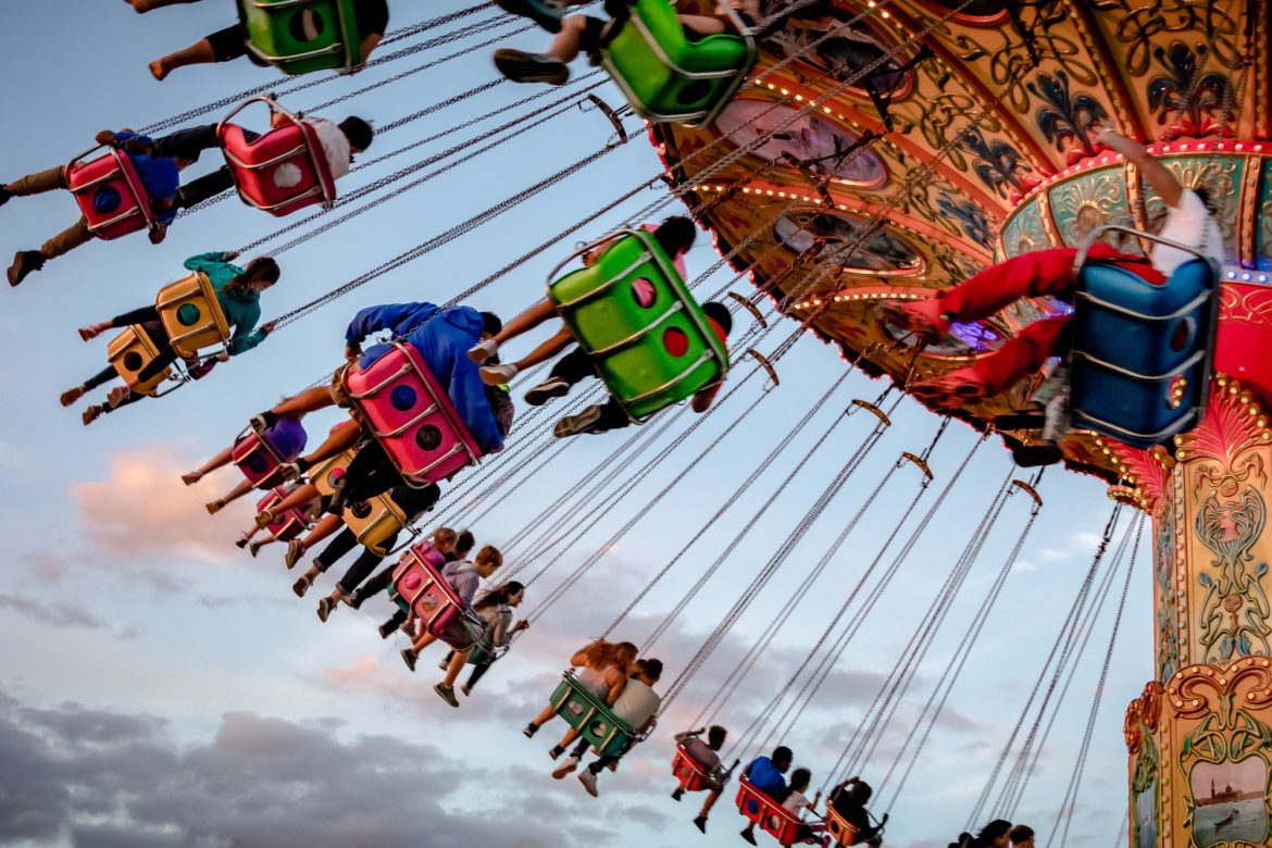 Rides from Strawberry Festival in Plant City, Florida.