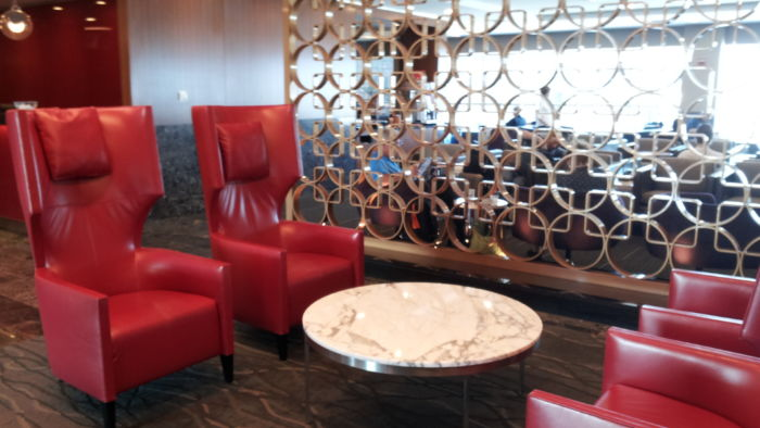 Unique seating at Admirals Club