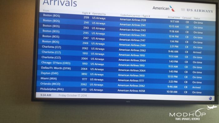 LaGuardia Airport Admirals Club - Departure and Arrival Board