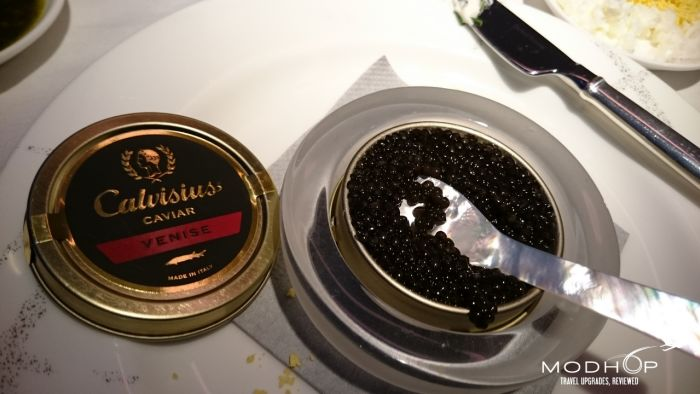 Cathay Pacific First Class Caviar