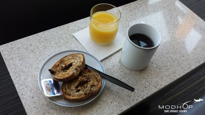LaGuardia Airport Admirals Club - Breakfast