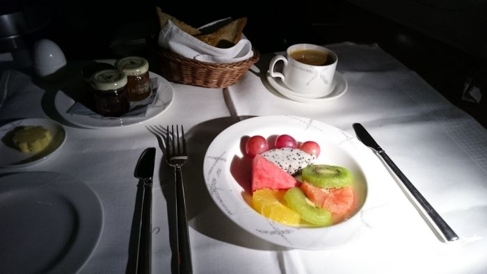 Cathay Pacific Menu - Breakfast in First