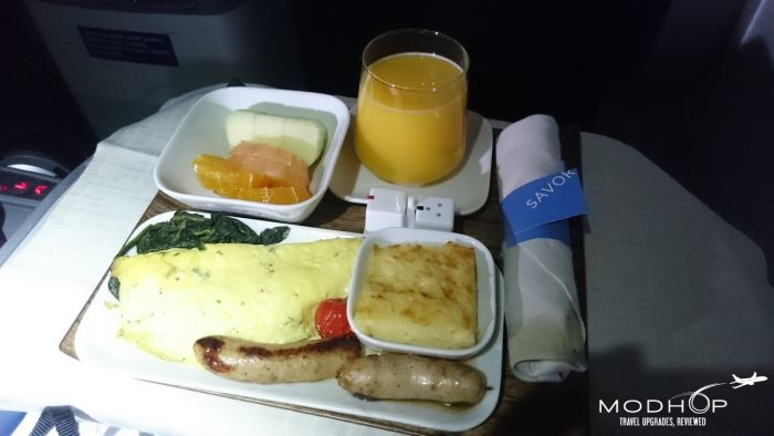 Business Class Breakfast on a Delta 767300