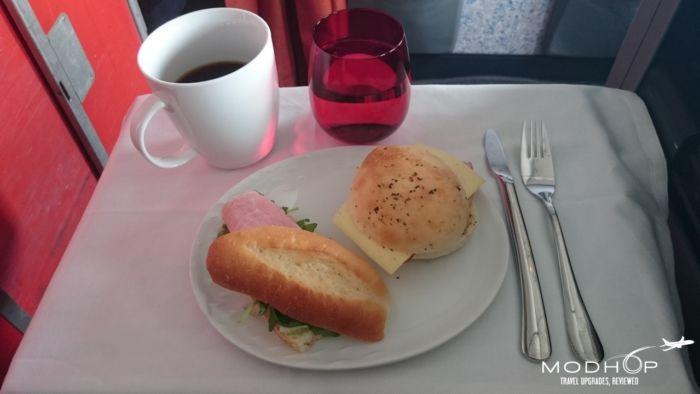 TAM Business Class Meal