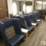 Semi-private mass seating at EWR Sky Club.